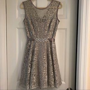 Gray glittery dress by Besty & Adam